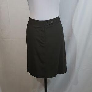 NWOT Adrienne Vittadini Dark Green Mini Skirt 10